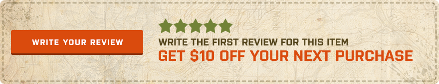 Be the first customer to write a review and get $10 off your next purchase!