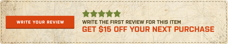 Be the first customer to write a review and get $15 off your next purchase!