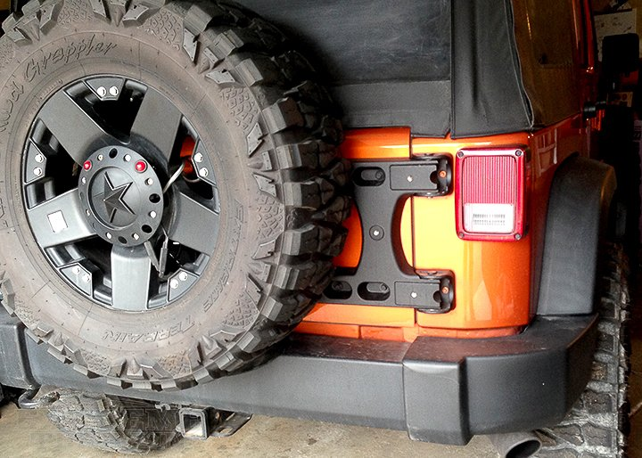 2011 Rubicon JK with a Teraflex Tire Carrier