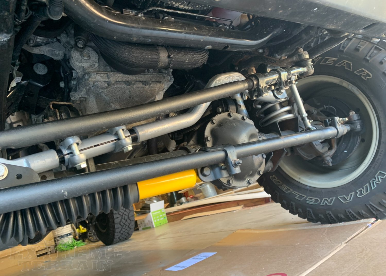 2016 Jeep with a Rubicon Express Adjustable Track Bar
