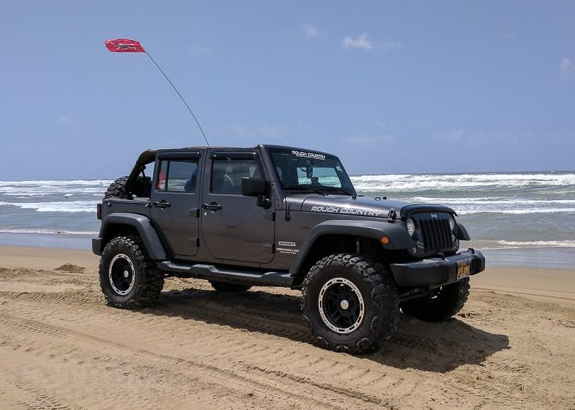 2014 JK Wrangler 4-Door with a Rough Country 4-Inch Suspension Lift Kit