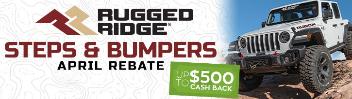 Rugged Ridge Steps & Bumpers Rebate