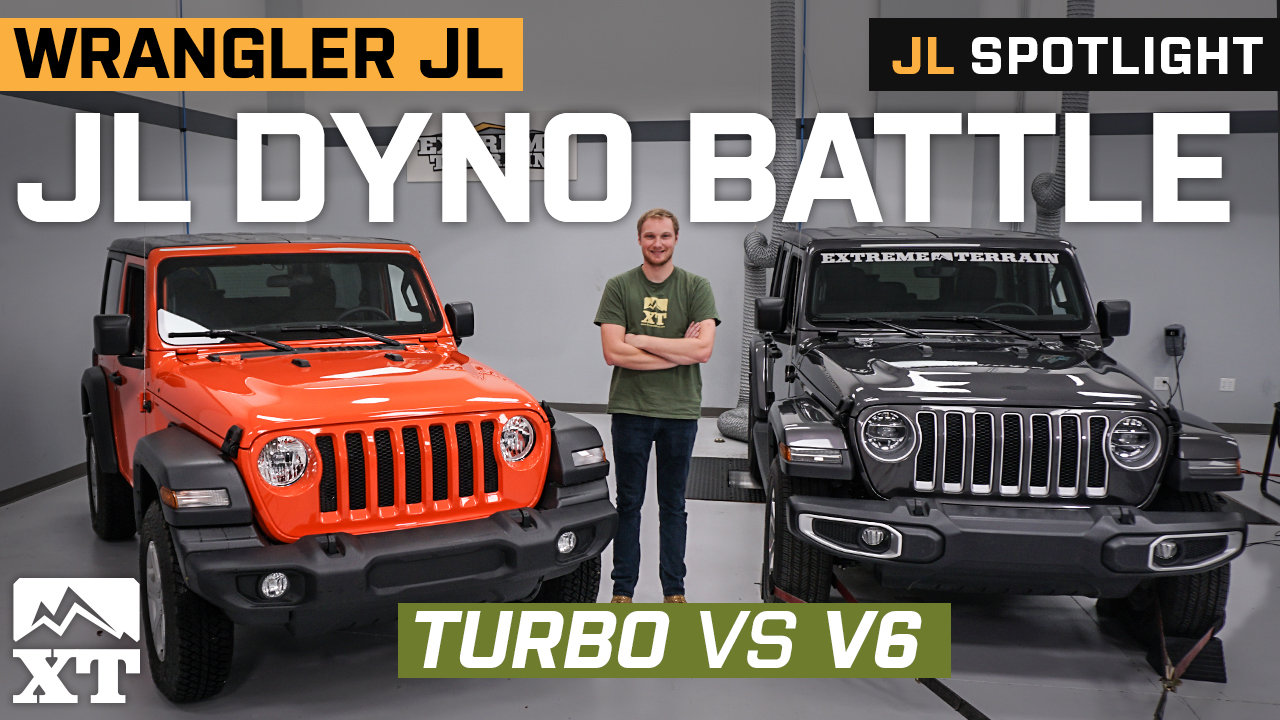 Dyno Battle Jeep JL Turbo vs V6 | Which JL Makes More Power?