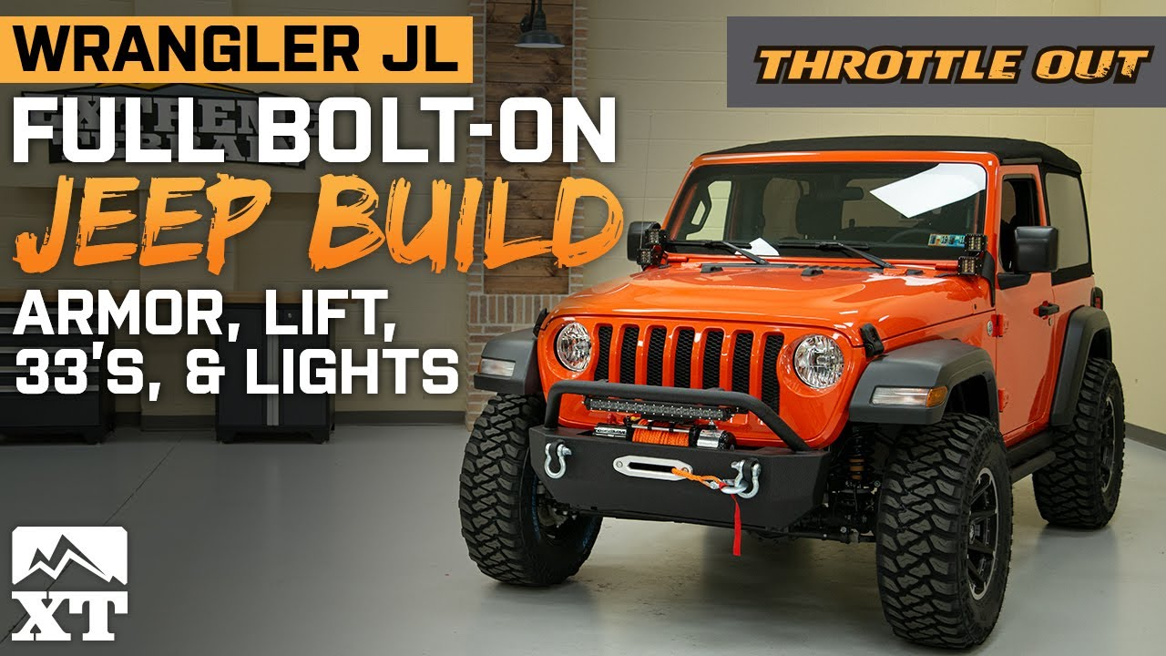 "Jeep Wrangler Sport Build | JL Sport Gets lifted, 33""s, and Armor - Throttle Out"